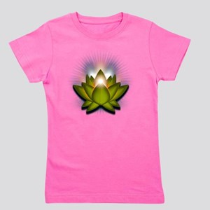 Chakra Lotus - Heart Green Girl's Tee