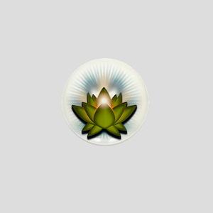 Chakra Lotus - Heart Green Mini Button