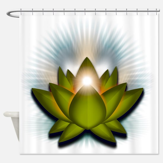 Chakra Lotus - Heart Green Shower Curtain