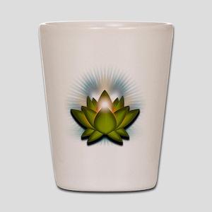 Chakra Lotus - Heart Green Shot Glass