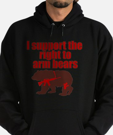 Right to arm bears Hoodie (dark)