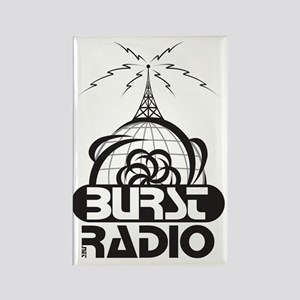 Burst Radio Logo Rectangle Magnet