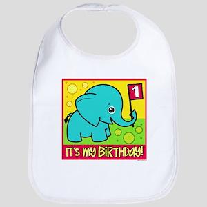 1st Birthday Elephant Bib