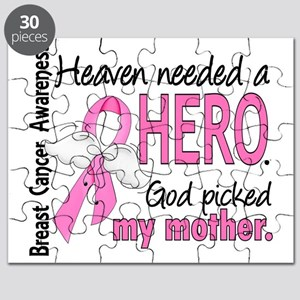 - Heaven Needed a Hero Mother Breast Cancer Puzzle