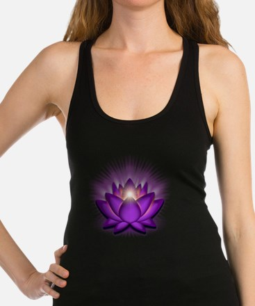 Chakra Lotus - Crown Violet Racerback Tank Top