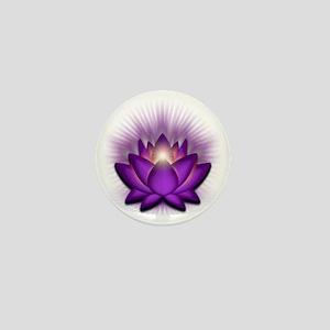 Chakra Lotus - Crown Violet Mini Button