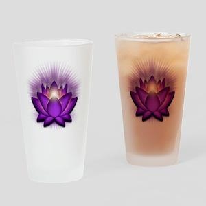 Chakra Lotus - Crown Violet Drinking Glass
