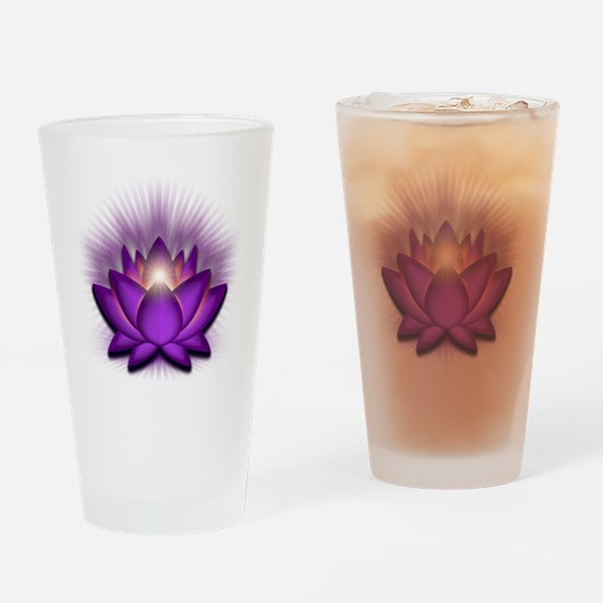 Chakra Lotus - Crown Violet Drinking Glass