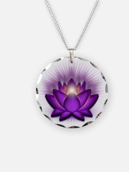 Chakra Lotus - Crown Violet Necklace