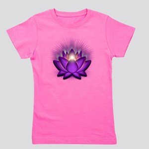 Chakra Lotus - Crown Violet Girl's Tee