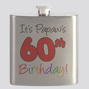 Papaws 60th Birthday Flask