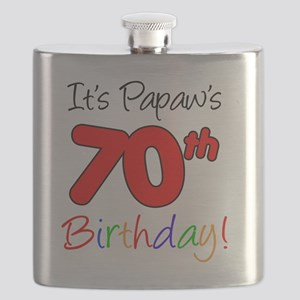 Papaws 70th Birthday Flask