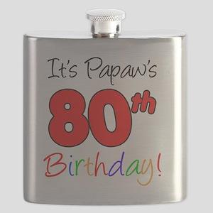 Papaws 80th Birthday Flask