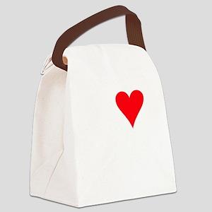 iheartllamas_black Canvas Lunch Bag