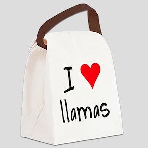 iheartllamas Canvas Lunch Bag