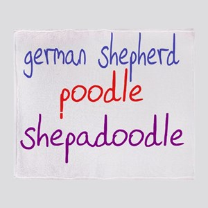 shepadoodle_black Throw Blanket