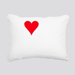 iheartbeabull_black Rectangular Canvas Pillow