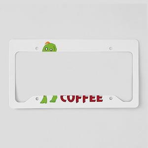 Zombie_in_the_Morning_dark License Plate Holder