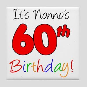 Nonnos 60th Birthday Tile Coaster