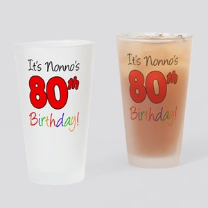 Nonnos 80th Birthday Drinking Glass