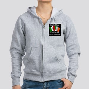 italianblackbutton Women's Zip Hoodie