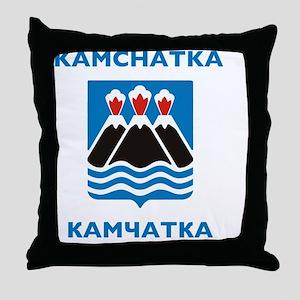 Kamchatka Coat of Arms Throw Pillow