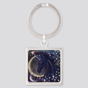 Stellar_Unicorn_16x20 Square Keychain