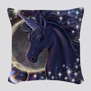 Stellar_Unicorn_16x16 Woven Throw Pillow