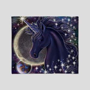 Stellar_Unicorn_16x16 Throw Blanket