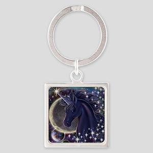 Stellar_Unicorn_16x16 Square Keychain