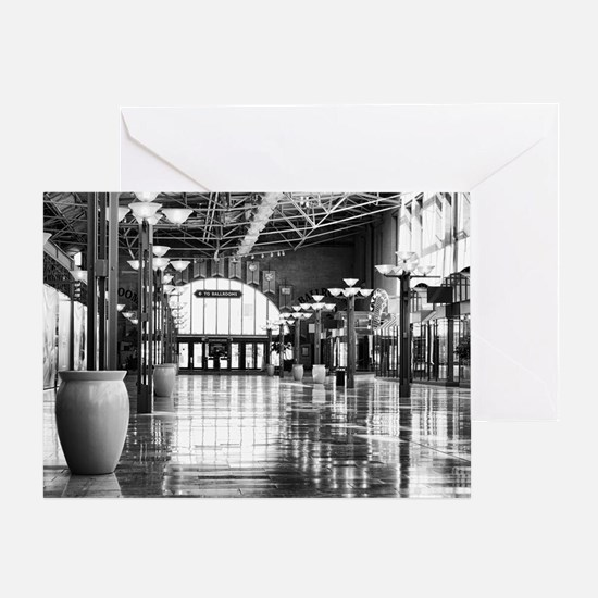 Ballroom This Way in Black and White Greeting Card