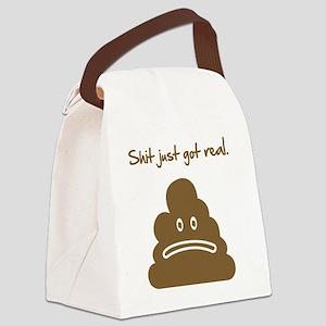 shitGotRealC Canvas Lunch Bag