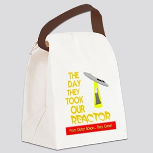 funny ufo and nuclear reactor Canvas Lunch Bag