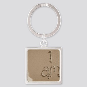 i am Square Keychain