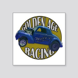 "golden age willies navy gol Square Sticker 3"" x 3"""