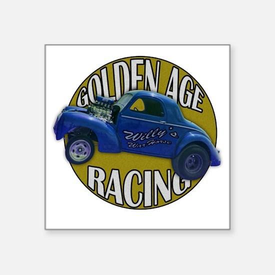 """golden age willies navy gol Square Sticker 3"""" x 3"""""""