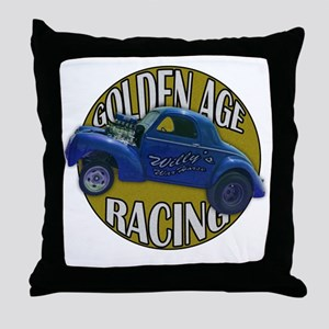 golden age willies navy gold Throw Pillow