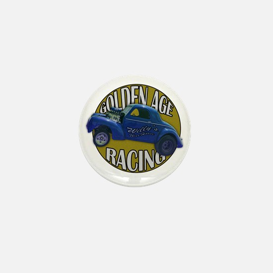 golden age willies navy gold Mini Button