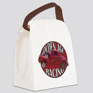 Golden age willies red Canvas Lunch Bag
