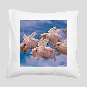 cp-ww-pad-airborne Square Canvas Pillow