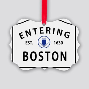 enteringboston Picture Ornament