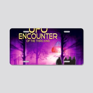 UFO Encounter Aluminum License Plate