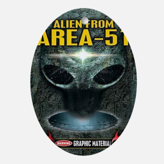 Area-51 Alien Oval Ornament