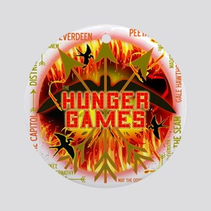 hunger games katniss peeta gale the Round Ornament