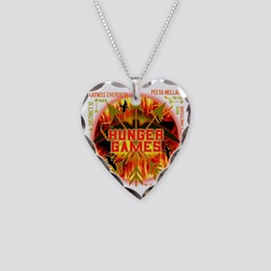 hunger games katniss peeta ga Necklace Heart Charm