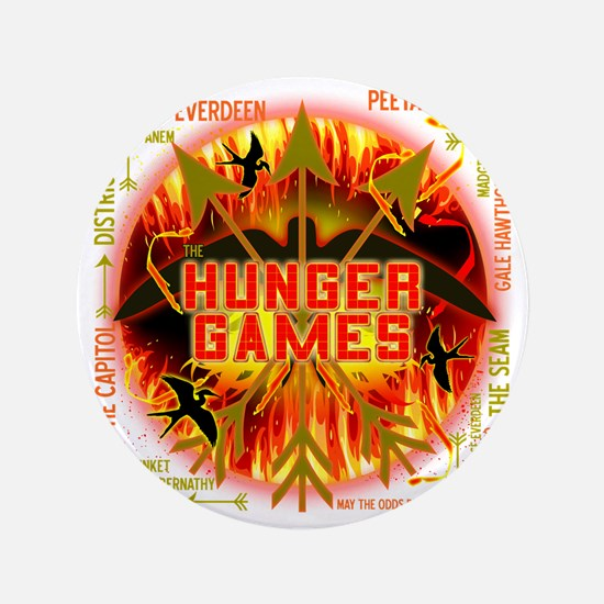"hunger games katniss peeta gale the tr 3.5"" Button"