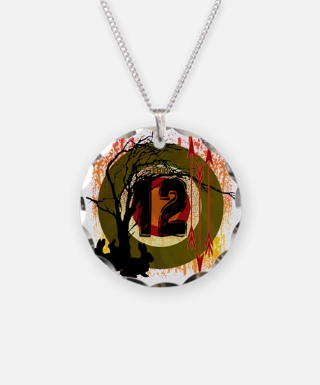hunting in district 12 the h Necklace Circle Charm