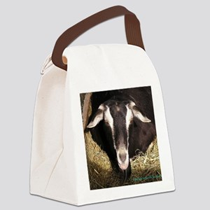 smiling-goat Canvas Lunch Bag