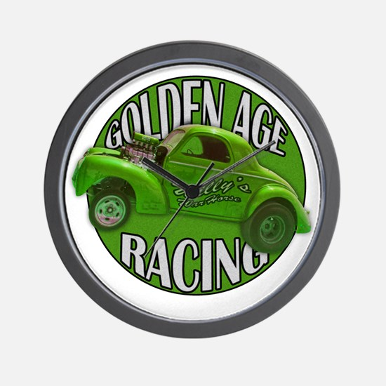 golden age willys green Wall Clock