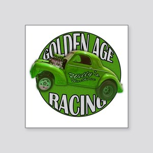 """golden age willys green Square Sticker 3"""" x 3"""""""